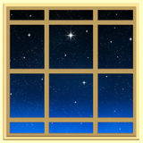Bright star through the window Royalty Free Stock Photography