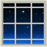 Bright star through the window Stock Images