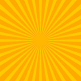Bright starburst sunburst background with regular radiating li. Nes, stripes - Royalty free vector illustration Stock Images
