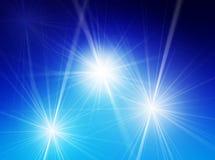 Bright stars. Illustration of three bright stars Stock Photo