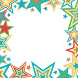 Bright Stars Background. Stars illustration in bright colors on white background Stock Image