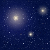 Bright stars during night Royalty Free Stock Image