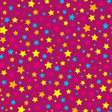 Bright stars pink seamless pattern Royalty Free Stock Image