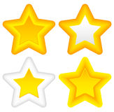 Bright stars with rounded corners, thick outlines Royalty Free Stock Photography