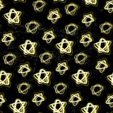 Bright stars seamless pattern/ Night sky/ Electric lights Royalty Free Stock Photography