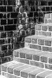 Bright Steps Dark Wall Royalty Free Stock Image