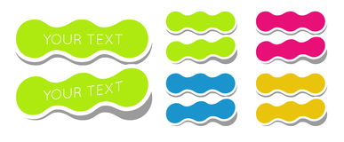 Bright stickers Stock Image