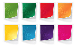 Bright stickers Royalty Free Stock Photography