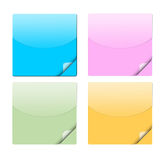Bright stickers Stock Images