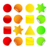 Bright Stickers Set 1 Stock Photos