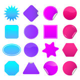Bright Stickers Set 2 Royalty Free Stock Images