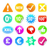 Bright Stickers Set 3 - Symbols Stock Photography