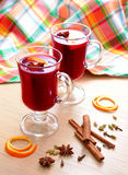 Bright still life with mulled wine Royalty Free Stock Images