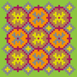 Bright stitching pattern on a light green background Royalty Free Stock Photography