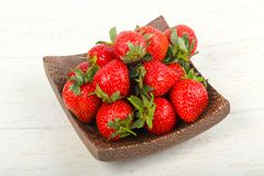 Strawberry in the bowl. Bright Strawberry in the bowl Royalty Free Stock Images