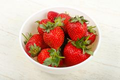 Strawberry in the bowl. Bright Strawberry in the bowl Royalty Free Stock Photo