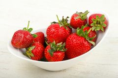 Strawberry in the bowl. Bright Strawberry in the bowl Royalty Free Stock Photos