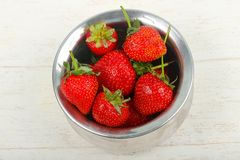 Strawberry in the bowl. Bright Strawberry in the bowl Royalty Free Stock Photography