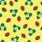 Bright strawberry seamless background Stock Images