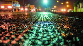 Road At Night royalty free stock photos