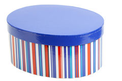 Bright striped oval closed box Royalty Free Stock Photos