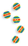 Bright striped sewing buttons Royalty Free Stock Image