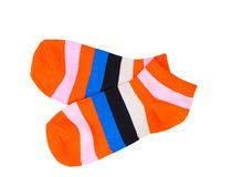 Bright striped socks Stock Image