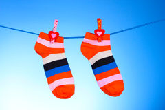 Bright striped socks Royalty Free Stock Image