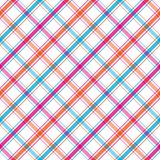 Bright Stripes Plaid Royalty Free Stock Image