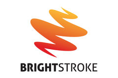 Bright stroke logo. Logo design of creative art stroke Stock Photography