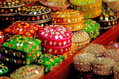 Bright stunning cases in Arab street, Singapore. Nice to have as a jewellery case or a treasure gift Royalty Free Stock Image