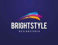 Bright Style Logo Royalty Free Stock Photo
