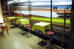 Bright and stylish cafe royalty free stock images