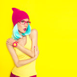 Bright stylish girl Royalty Free Stock Photography