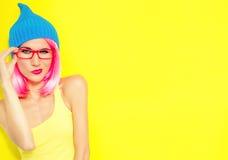 Bright stylish girl Stock Photos