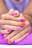 Bright stylish manicure Royalty Free Stock Image