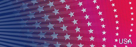 Bright stylized background USA patriotic design. Abstract background USA patriotic design with stars and lines Stock Photos