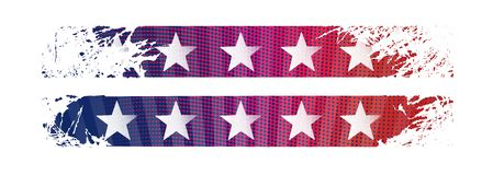 Bright stylized background USA patriotic design Stock Photography