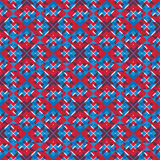 Bright stylized symmetric endless pattern, continuous creative a. Rtificial composition, geometric ornamental background with overlapping figures. Visual effect Royalty Free Stock Photo