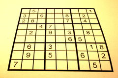 Bright sudoku. Drowning by numbers with this sudoku stock images