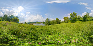 Bright summer. Hight resolution panoramic image of a bright summer day stock photography