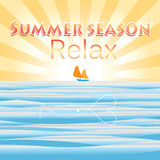 Bright summer background to the sea Royalty Free Stock Photos