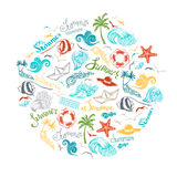 Bright summer background. Royalty Free Stock Images