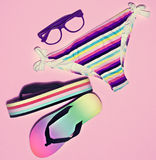 Bright summer beach look. Royalty Free Stock Photography