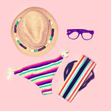 Bright summer beach look. Stock Photo