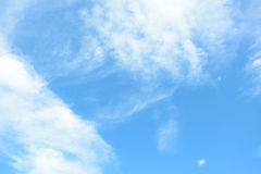 Bright summer blue sky & clouds Stock Photo
