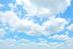 Bright summer blue sky & clouds Royalty Free Stock Image