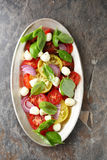 Bright summer caprese salad royalty free stock image