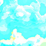 Bright summer day. Abstract fractal pattern design banner poster. Could be used business card, brochure cover presentation. Sky. Stock Photography
