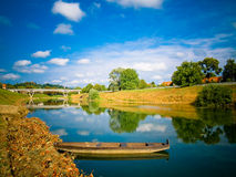 Bright Summer Day On The River  Royalty Free Stock Photos